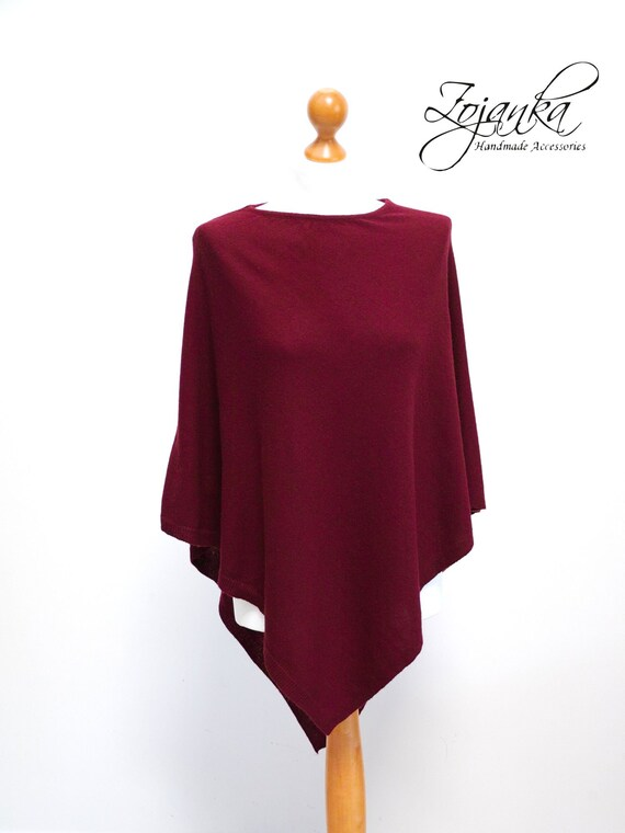 PONCHO wrap, poncho cape, travel wrap, gift ideas, autumn fashion accessories, wool poncho cape, gift ideas for her, S/M size wool poncho