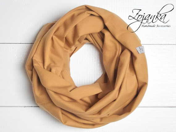 Toddler Infinity SCARF kids scarf  Loop scarf for 3-6 years old, KIDS scarf, kids scarves, lighweight kids scarf, cotton honey yellow scarf