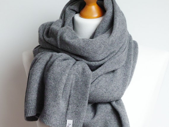 Wool scarf for winter,gray women scarf shawl, gift ideas, winter fashion accessories, gift ideas for friend