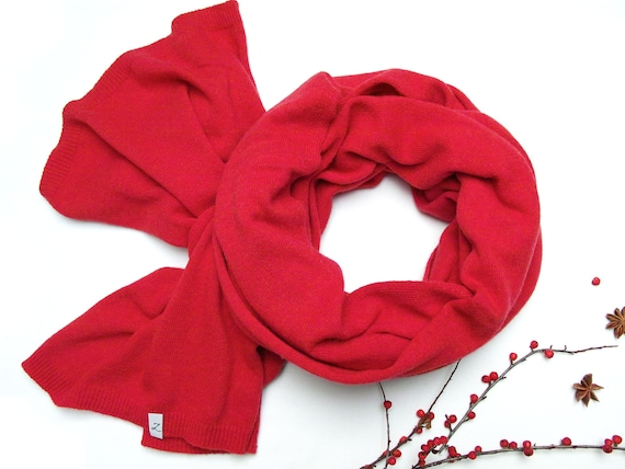 Wool red scarf for women, red scarf wrap,  WINTER fashion scarf, gift ideas, winter fashion accessories, gift ideas, soft scarf for winter