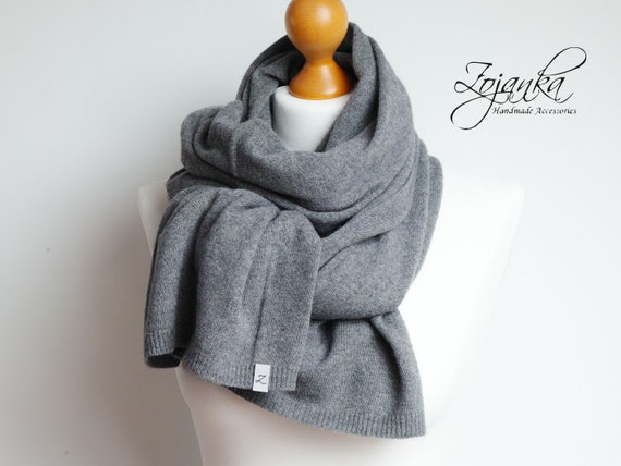 Wool scarf for winter,gray women scarf shawl, gift ideas, winter fashion accessories, gift ideas for best friend