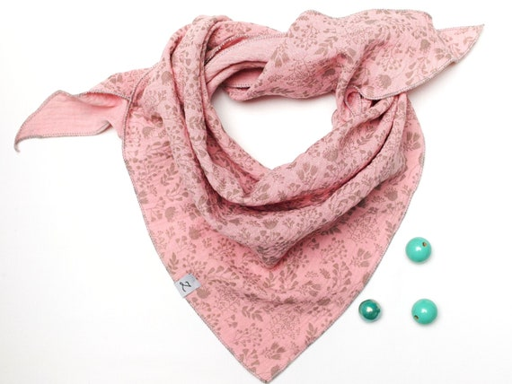Cotton muslin neck scarf for girls 2-7 years, cotton bandana scarf for girls with dots pattern, soft neck scarf for kids