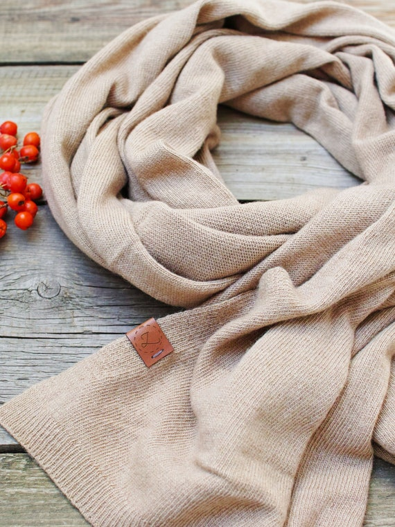 Wool scarf, camel scarf for women, WINTER fashion, gift ideas, winter fashion accessories, wool scarf, warm scarf for winter, shawl
