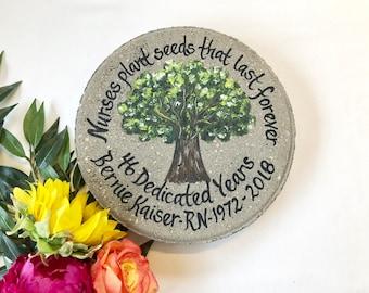 NURSE GIFT, Nurse Appreciation, Retirement Gifts, Painted Chesnut Tree, Nurse Retirement, Gift for Nurse, Employee Recognition, Nurse Gifts