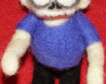 Zombie in Needle Felted Wool