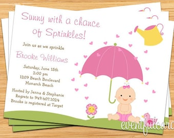 items similar to baby sprinkle shower invitation for boy also