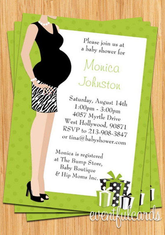 Green Unisex Baby Shower Invitation Print Yourself Etsy