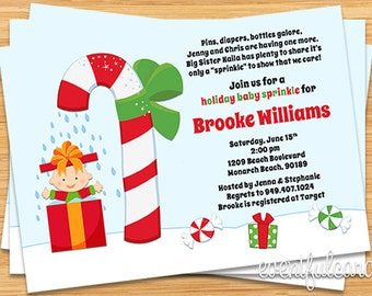 Christmas Baby Sprinkle Shower Invitation