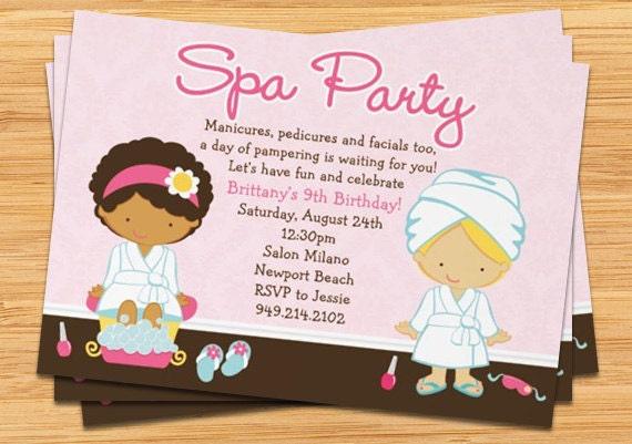Spa party kids birthday invitation etsy image 0 filmwisefo