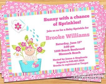 Baby Sprinkle Shower Invitation for a Girl