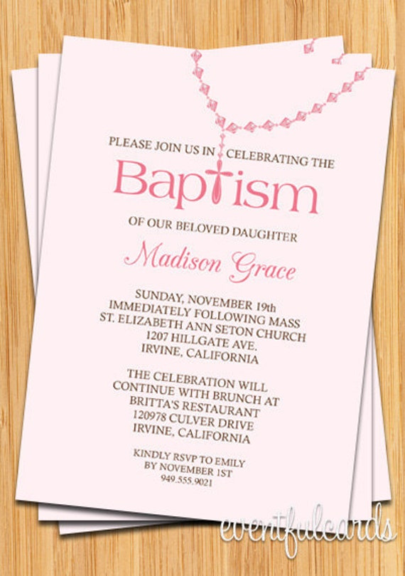 baby girl rosary baptism invitation by eventfulcards catch my party