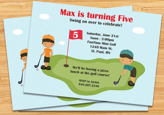 Miniature golf birthday party invitation boys etsy image 0 filmwisefo