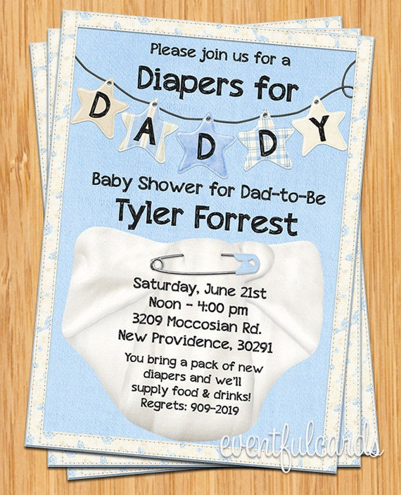 Diapers for daddy baby shower invitation filmwisefo