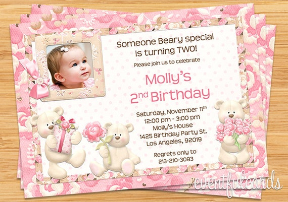 Teddy bear birthday party invitation printable filmwisefo