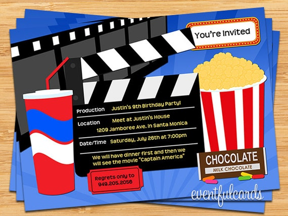 Movie Birthday Party Invitation By Eventfulcards Catch My Party