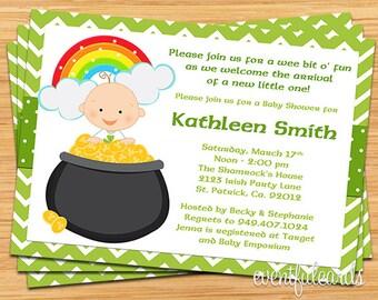 St Patricks Day Irish Baby Shower Invitation
