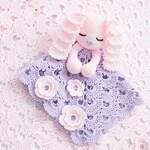 CROCHET PATTERN  Sunny the Sleepy Bunny Lovey PDF Crochet Pattern with Instant Download