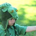 CROCHET PATTERN Snappy Simon the Crocodile Hat PDF Crochet Pattern with Instant Download