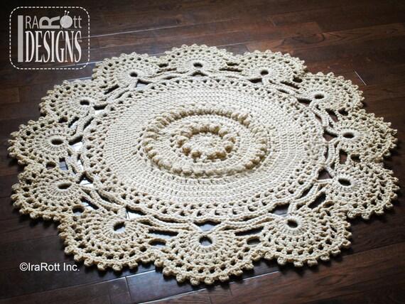 Crochet Pattern Retro Owl Rug Or Doily Rug Nursery Mat Carpet Etsy