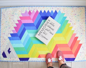 QUILTING PATTERN Needles The Hedgehog Jelly Roll Rug