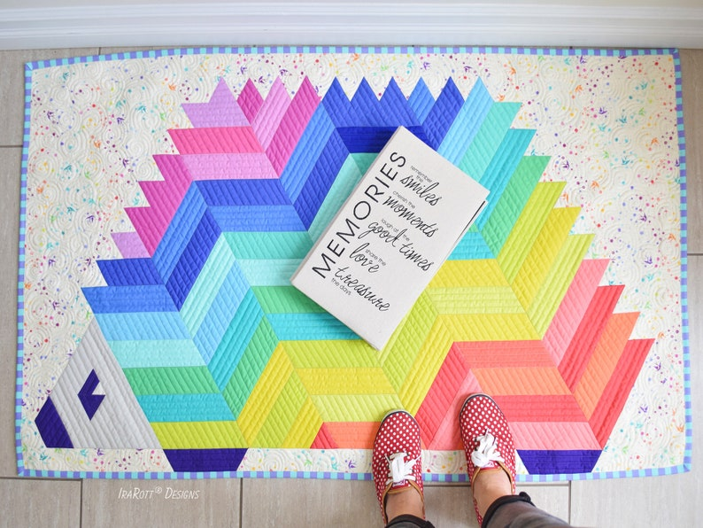 QUILTING PATTERN Needles The Hedgehog Jelly Roll Rug image 0