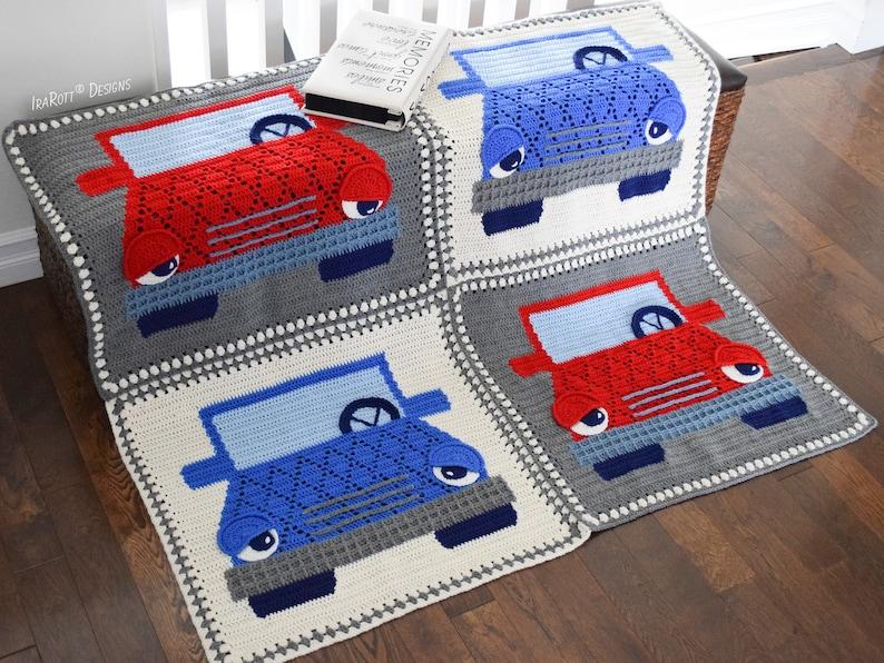 CROCHET PATTERN Jimmy The Hybrid Car Blanket image 0