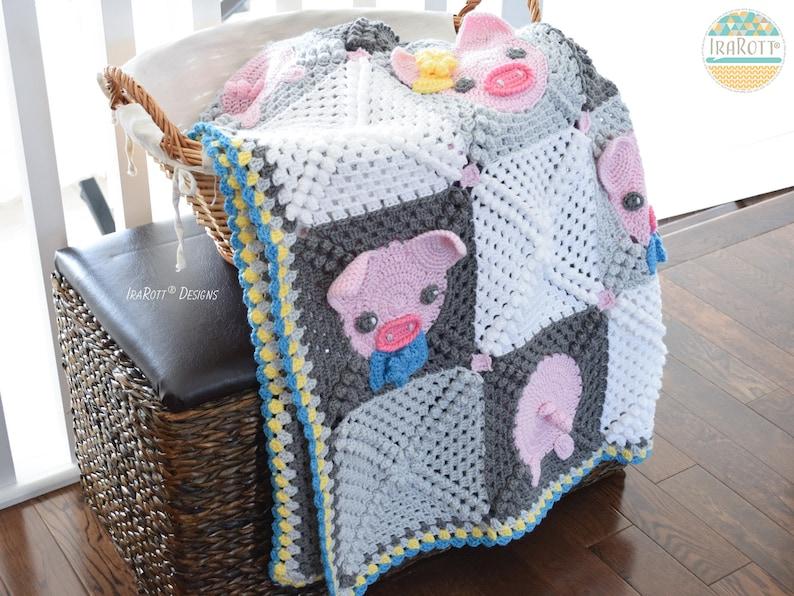 CROCHET PATTERN Pinky The Piggy Blanket