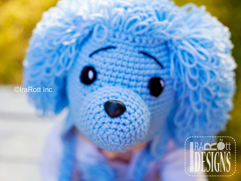 CROCHET PATTERN Loopy the Poodle Puppy Dog Hat Crochet PDF  a26f51a034d5
