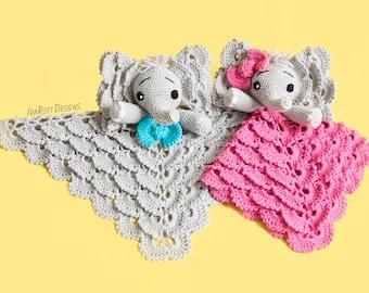CROCHET PATTERN Josefina and Jeffery Elephant Lovey