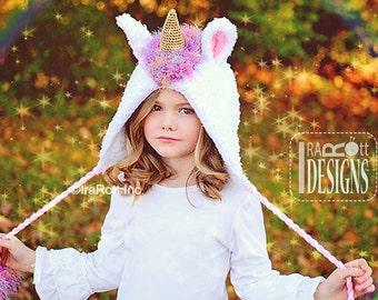 CROCHET PATTERN Stardust the Unicorn Hat Bonnet PDF Crochet Pattern Instant Download
