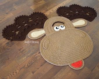 CROCHET PATTERN Eh Moose Animal Rug