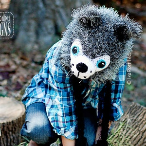 dc0b0ff3dc2 CROCHET PATTERN Raff and Rolf the Wolves Crochet Hat Pattern PDF Instant  Download