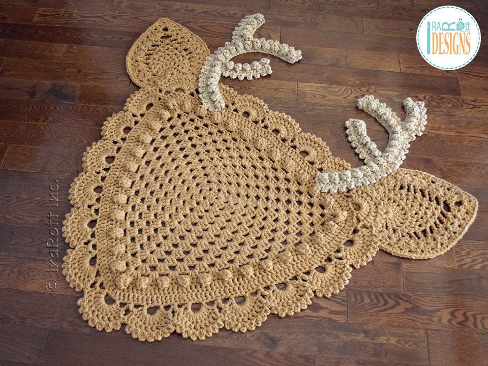 Crochet Pattern Blizzard The Reindeer Rug Or Corner Doily