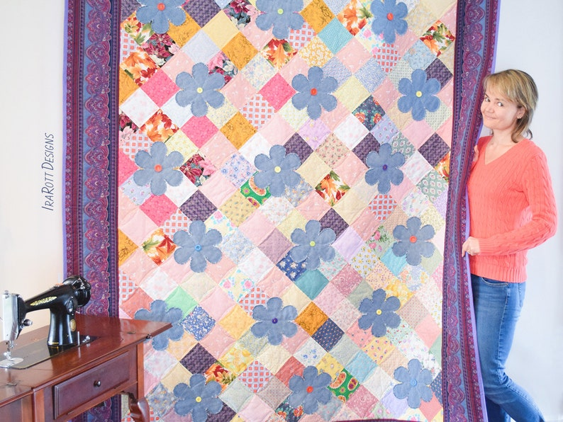 QUILTING PATTERN Scrappy Daisy Garden image 0