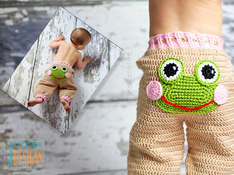 3a31cb9b4b6 CROCHET PATTERN Silly Creatures Pants 3 Designs in 1 Pattern