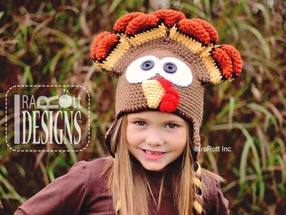 CROCHET PATTERN DinDon the Turkey Hat PDF Crochet Pattern Instant Download 3ac46a3b4559