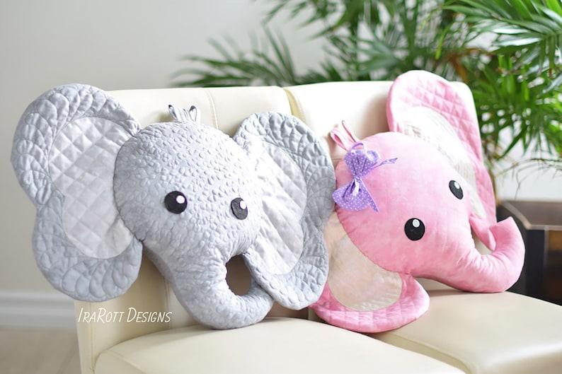 QUILTING PATTERN Josefina and Jeffery Elephant Pillow image 0
