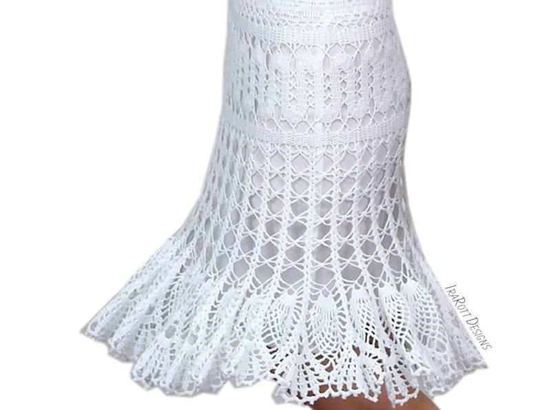 CROCHET PATTERN Bruges Crochet Lace Skirt image 0