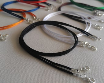 """32/"""" Necklace Cord for Pendant BROWN Satin Choice Quality you chose 14/"""""""
