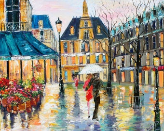 Fine Art Print Paris Early Spring made from image of past painting by Karen Tarlton