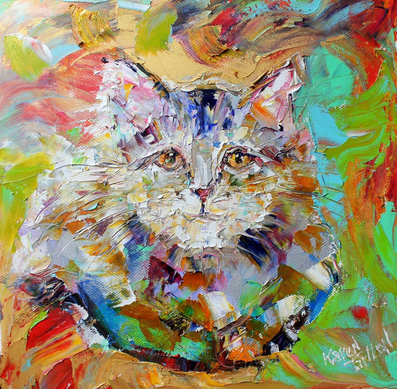 Pet Portrait Custom Karen Tarlton Original Oil Painting