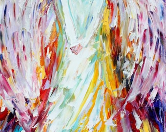 Angel print, angel art, angel of Joy on canvas,  Giclee Print on canvas made from image of past painting by Karen Tarlton fine art