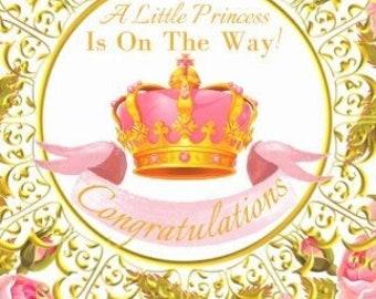 Baby Girl Stickers, Congratulations, Envelope Seals