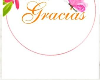 Gracias, Por Ser Como Eres, Spanish Thank You Greeting Card