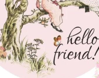 Hello Friend High Glossy Envelope Seals