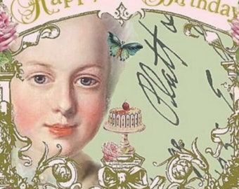 Happy Birthday, Marie Antoinette Inspired Envelope Seals