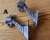 Choice pair (2) of original victorian hand rail brackets cast iron