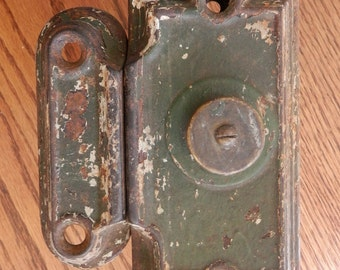 antique door lock and keeper architectural salvage