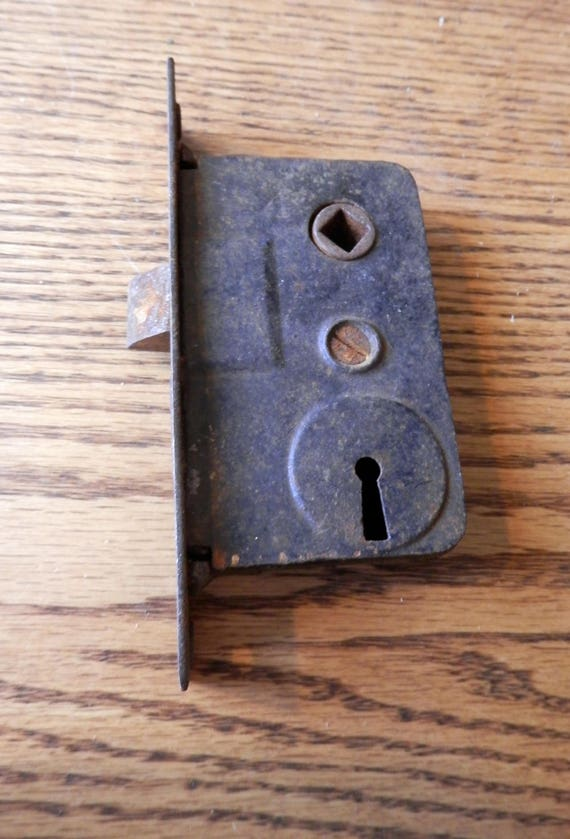 One 1 Antique French Door Lock Vintage Etsy