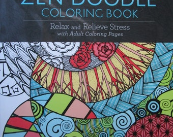 Zen Doodle Coloring Book Relax And Relieve Stress One Sided Fat Fabulous Fun 16